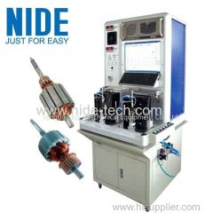 DOUBLE STATION COMMUTATOR MOTOR ARMATURE TESTING EQUIPMENT