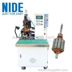 With the touch screen commutator wire fusing spot welding machine