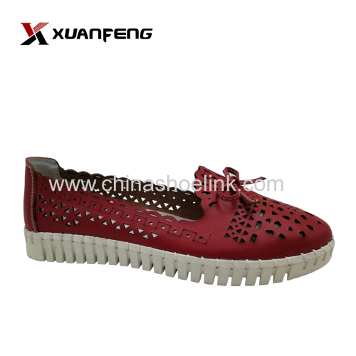 Handmade driving shoe summer flat shoes sewn up outsole manufacturer