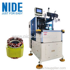 Automatic double side electric motor stator coil lacer equipment