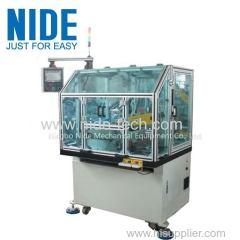 Automatic motor rotor commutator turning machine