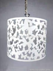 Butterflies White Metal Shade