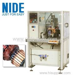 Automatic commutator welding machine