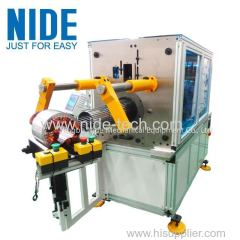 Horizontal type automatic stator coils winding inserting machine