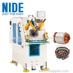 Automatic compression motor stator coil inserter