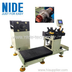 Well pump motor stator coil and wedge winding insertion machine