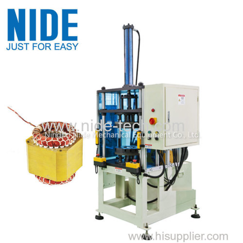 Stator coil final forming machine