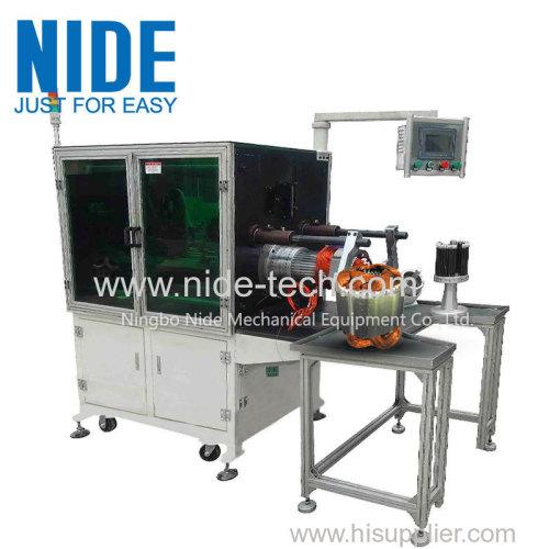 Horizontal type washing machine motor stator coil inserting machine