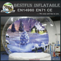 LED light Halloween inflatable snow globe