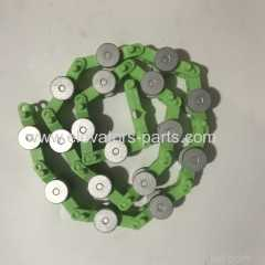 SJEC Escalator Chain Green Escalator Rotary Chain 17 Joints