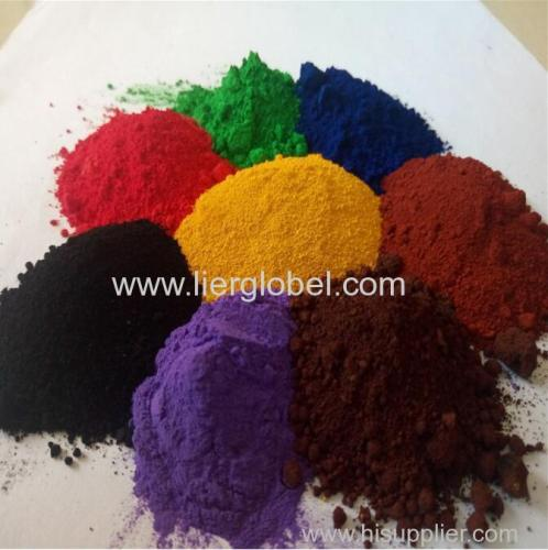 iron oxide red black yellow green powder