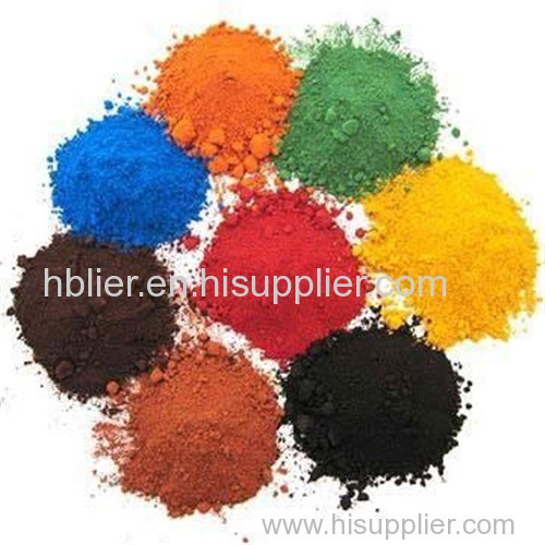 Iron oxide red yellow black coating painting pigment