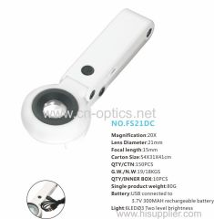 STRONG AND GENTLE LED ILLUMINANT FOLDING TYPE AND TABLETOP MAGNIFIER(HIGH MAGNIFICATION MAIN LENS MODEL)