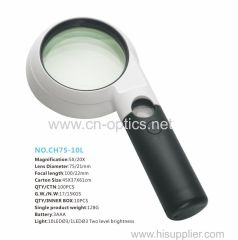 DUAL MAGNIFICATION WITH RINGLIKE LED LIGHT SOURCE MAGNIFIER(HIGH MAGNIFICATION OF MAIN LENSE TYPE)
