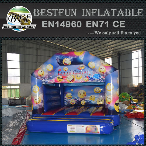 Emoji inflatable bounce house jumping castle
