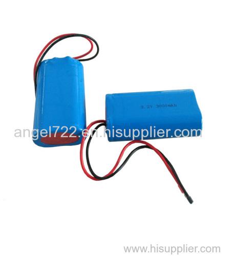 solar light battery lithium battery 3.2v 3000mah