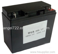 how to replace 12v 20AH battery SLA AGM to lifepo4 battery