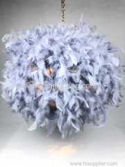 Non elec feather pendant gray