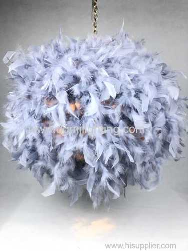 Non elec feather pendant gray