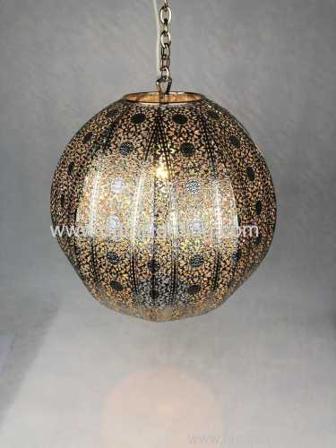 Aria Lace Ball Pendant Copper With Black D300mm