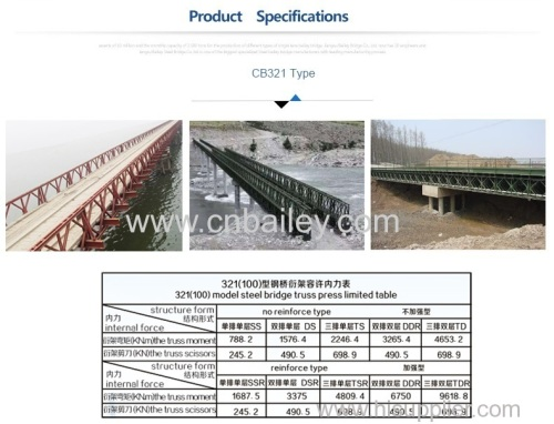 bailey bridges with comprehensive angles and muti-span-1