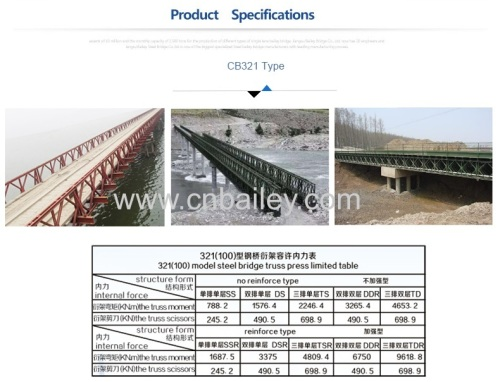 Factory price Top quality prefabricated temporary bridge