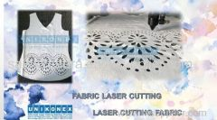 Laser cutting sublimated fabric