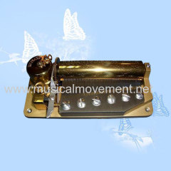 Wind up Musical Box Mechanism Yunsheng 50 Note