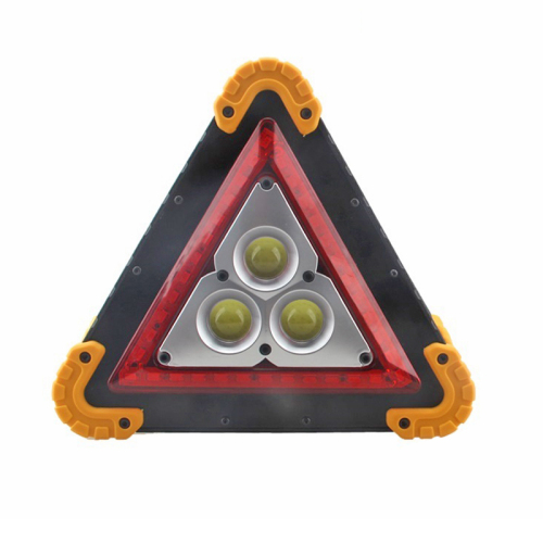 Triangle Rechargeable or battery power LED Warning Light