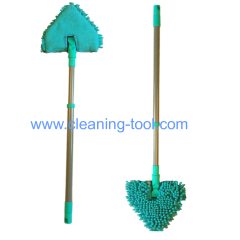 wet and dry double sided triangle bathroom cleaning mop
