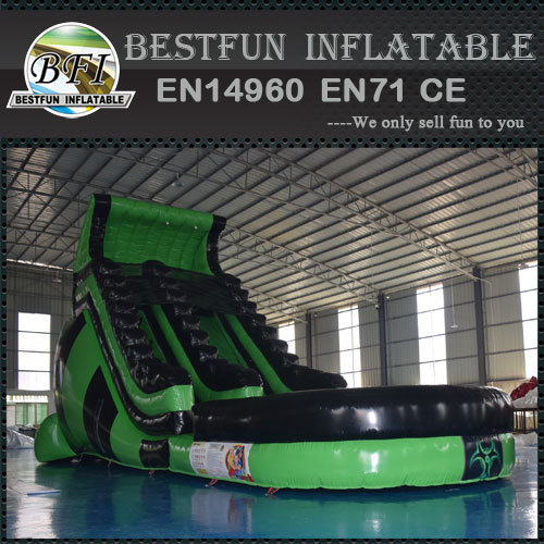 Giant atomic inflatable water slide