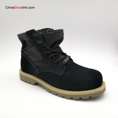 Wholesale Comfortable Customized Men's Cow Suede Leather Boots