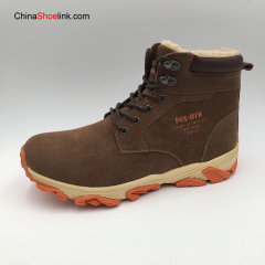 Wholesale Comfortable Men's Winter Leather Snow Boots