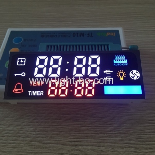 Custom design multicolour 7 Segment LED Dispaly module for oven timer controller