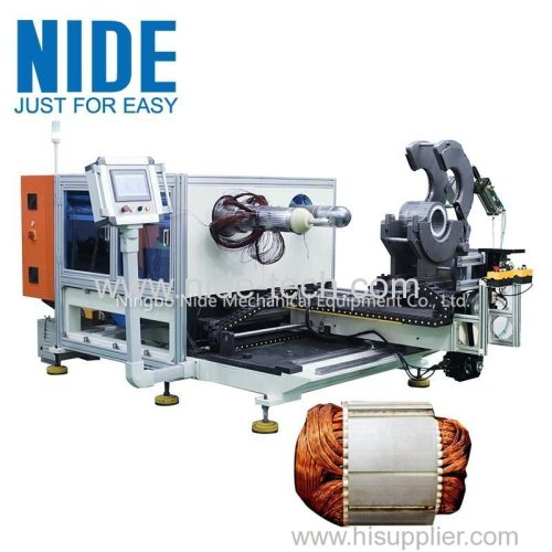 Automatic submersible pump motor stator coil inserting and expanding machine for sale