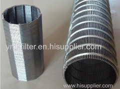 High Precision Wedge Wire Screen Filter Pipe Wedge Wire Pipe /Tube/Cylinder Wedge Wire Screen