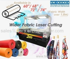 Wider fabric laser cutting sublimation printed fabric cutting