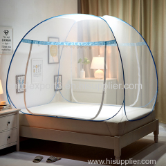 Portable Folding Mosquito Net Mongolian Yurt Insert Mesh Bed Canopy Moustiquaire Blue Foldable Tent Bed klamboe Nets