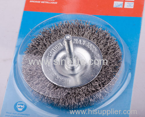 Twist Wire Circular Brush With Shank