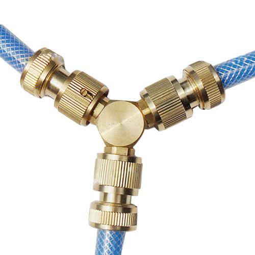 Copper 2 way garden hose Y Connector
