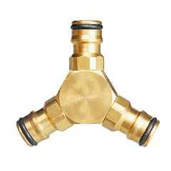 Brass 2-way garden hose Y Fitting