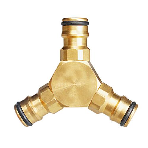 Brass 2-way garden hose Y Fitting