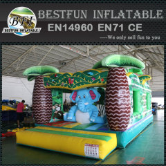 Jungle Animal Theme Inflatable Bounce House