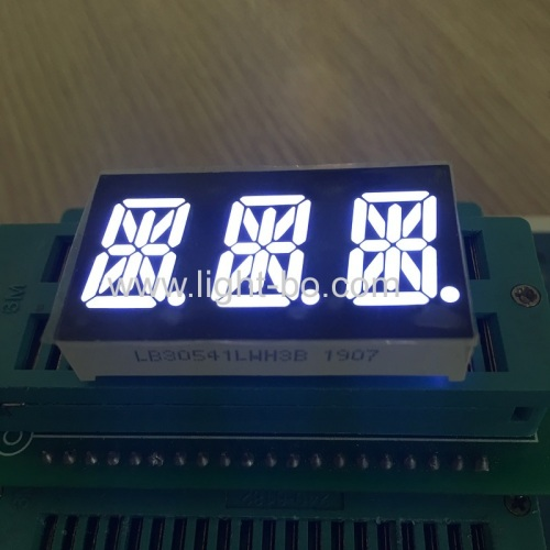 Ultra bright white 0.54  3 Digit 14 Segment LED Display common cathode for Temperature Indicator