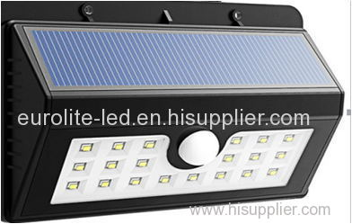 euroliteLED 20/45LED Solar Lights Wireless Waterproof Motion Sensor Outdoor Light with Motion Activated Auto On/Off