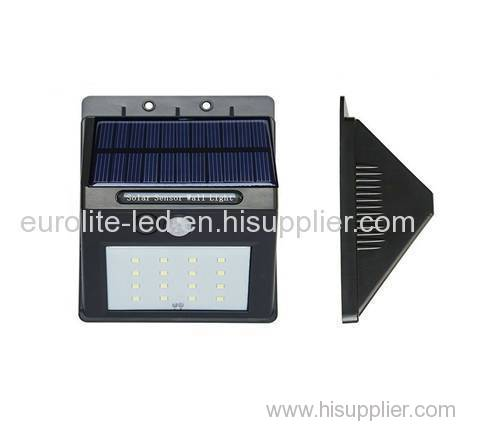 luces solares euroliteled al aire libre 16/20 led inalámbrico seguridad impermeable sensor de movimiento solar luces