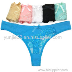 New Style Sexy Women Cotton Lace T-back Sexy Lingerie G-string Ladies Panties Sexy G-string