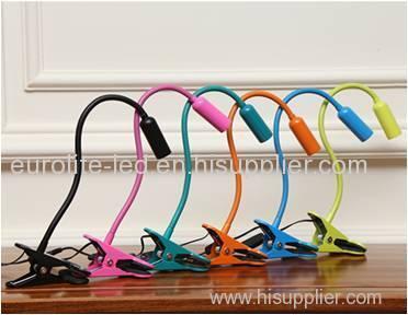 euroliteLED colorful Clip Desk Lamp with 3 steps dimmer timer