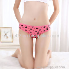 Cute Fancy Kiss Printed Japanese Ladies Bikini Thong Panties
