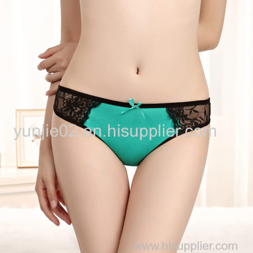 Yun Meng Ni New Arrival Transparent Lace Girl Sexy T-back Panties Lace Cotton Thongs for Women